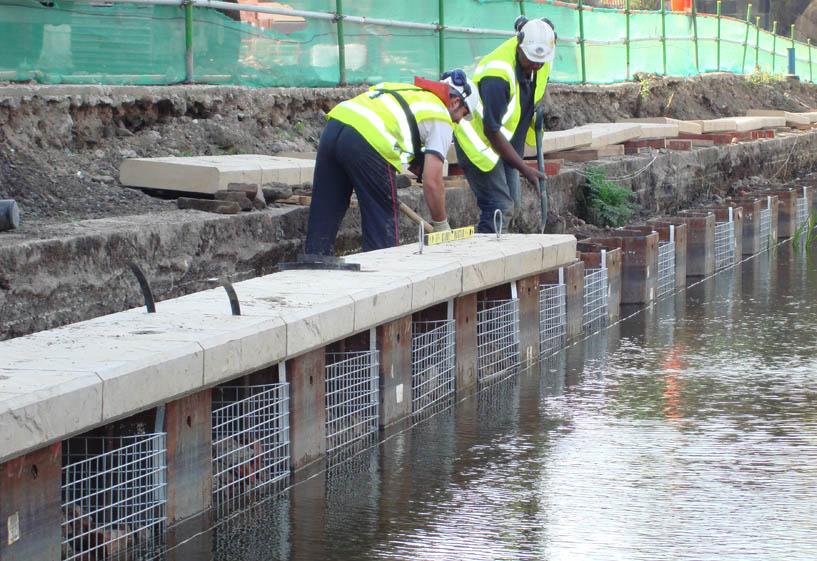 Plastic Sheet Piling Rock Anchors Concrete Repairs
