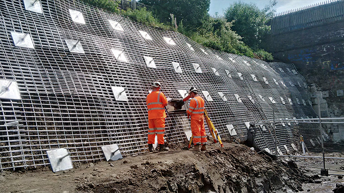 Farnworth Tunnel Condor Projects Soil Nails Rock