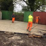 Concreting at Condor HQ